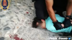 Imagen de la detención del agresor