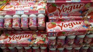 Imagen de los yogures de fresa de Hacendado