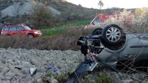 Imagen del accidente acaecido en Lónguida