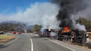 Imagen del accidente ocurrido en La Nava