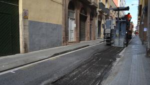 Imatge d'arxiu dels treballs d'asfalt
