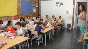 Imatge d'arxiu d'una classe de primària