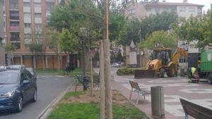 Imatge de diversos lledoners, a l'avinguda Vidal i Barraquer de Cambrils