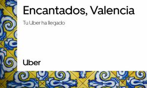 Imatge de la campanya d'Uber quan va arribar a València, en gener d'este any 2019