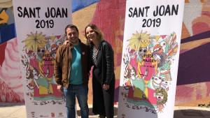 Imatge de la presentació del cartell de les festes de Sant Joan de Valls 2019