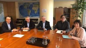 Imatge de la reunió de la comissió tècnica paritària entre Ajuntament de Salou i Generalitat