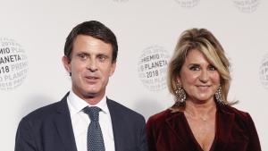 Imatge de Manuel Valls i Susana Gallardo en els premis Planeta