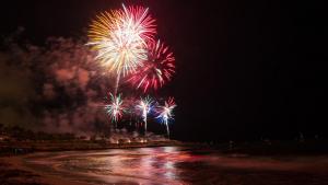 Imatge del Concurs de Focs Artificials a Tarragona.