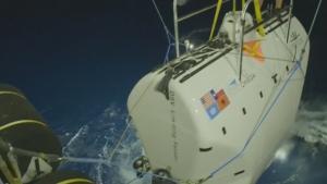Imatge del submarí amb què s'ha baixat fins al punt més profund de la Terra