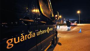 Imatge d'un control policial de la Guàrdia Urbana.