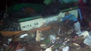 Imatge d'una de les barques trobades al fons marí de la Messina