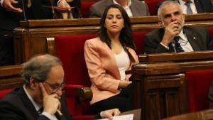 Inés Arrimadas afronta el seu últim ple al Parlament com a cap de l'oposició