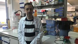 Joan Vendrell, al laboratori on investiga a l'Hospital Universitari Joan XXIII de Tarragona