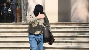 Joaquim Benítez sortint de l'Audiència de Barcelona