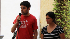 Jordi Molinera i Alba Muntadas, en una imatge d'arxiu en un acte a Altafulla.