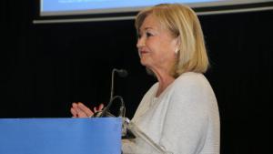 La candidata del PP a l'alcaldia de Torredembarra, Núria Gómez, en l'acte celebrat aquest dimecres.