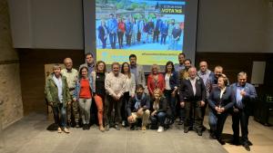 La candidatura d'Agrupament Catalanista de Montblanc, en l'acte de campanya celebrat a Sant Francesc.