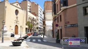 La plaça de la Sang s'ha reobert al trànsit a l'espera que comenci la segona fase de les obres