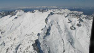 La víctima del alud se encontraba bajando la cima del Aneto, en el Pirineo aragonés