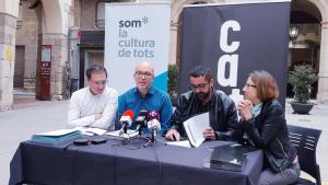 L'acord entre la Coordinadora de Colles Castelleres de Catalunya i Som es va presentar dimarts a Valls