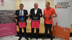 L'alcal de Reus, Carles Pellicer i el regidor d'Esports, Jordi Cervera, han participat a la presentació de la marxa ciclista