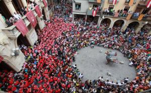 Les balladetes del seguici a la plaça del Blat són un dels moments més esperats de la festa