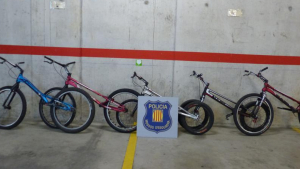 Les cinc bicicletes trobades tenien un valor de 14.000 euros