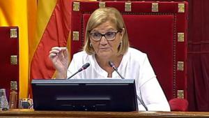 L'expresidenta del Parlament, Núria de Gispert.
