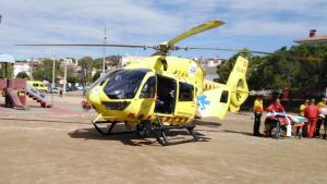 L'helicòpter del SEM l'ha traslladat a l'Hospital de Bellvitge