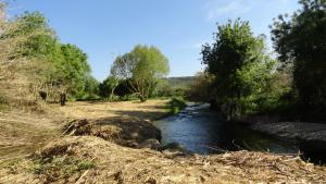 L'indret on es duu a terme l'actuació se situa entre la desembocadura del riu Glorieta, on es troba la Granja dels Frares, i paral·lel al Francolí.