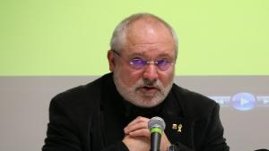 Lluís Puig durant la presentació del Consell per la República a Perpinyà