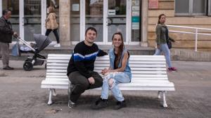 Lluís Romero i Clàudia Viñals, treballadors socials i membres d'H2O, un col·lectiu LGTBI del Camp de Tarragona