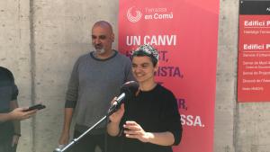 Lucía Marín i Xavi Martínez han presentat les idees de TeC en matèria d'habitatge