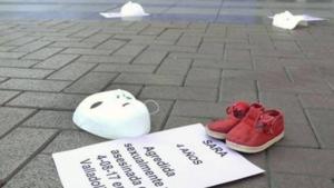 Manifestació a Valladolid per l'assassinat de Sara, nena de quatre anys violada y assassinada el 2017