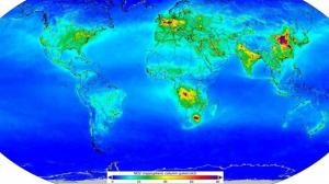 Mapa de contaminació a tot el món