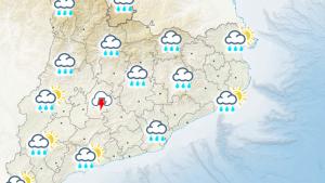 Mapa de previsió pel proper divendres