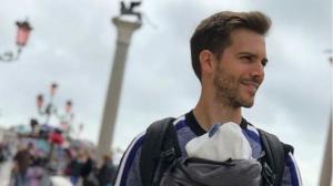 Marc Clotet amb la seva filla Lia a Venècia