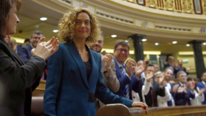 Meritxell Batet, en ser escollida presidenta del Congrés
