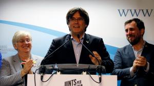 Neguen l'entrada de Puigdemont i Comín al Parlament Europeu