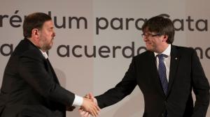 Puigdemont ha dedicat un emotiu missatge a Junqueras el dia del seu 50è aniversari