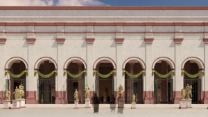 Recreació de la basílica del Fòrum de la Colònia de Tàrraco