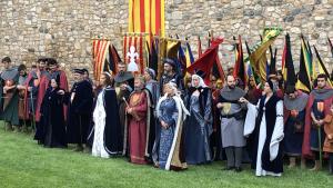 Setmana Medieval de Montblanc 2019: Sant Jordi entrega la rosa a la princesa