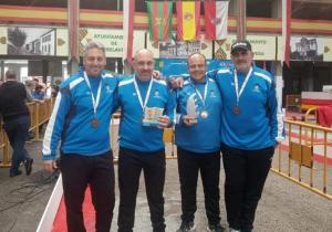 Tripleta de la UP Las Torres participant a la final del Campionat d'Espanya