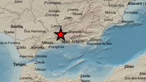 Ubicación del terremoto acaecido en la provincia de Granada