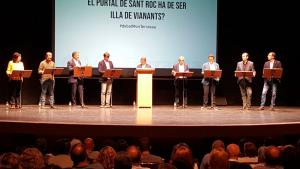 Un moment del Debat de Món Terrassa als candidats a l'alcaldia