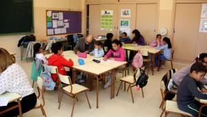 Una de les aules de primària de l'Escola Institut Mediterrani de Tarragona.