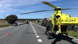 Una joven ha fallecido tras la colisión de su moto y un turismo en Segovia