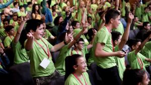 Uns 230 alumnes de Primària s'han aplegat a la cita de la Rovira i Virgili
