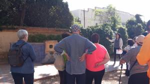 Usuaris dels Centres Cívics reusencs, avui dimecres a la Boca de la Mina