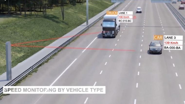 El nuevo «súper-radar» Mesta Fusion puede controlar 32 vehículos y 8 carriles a la vez